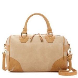 Pink Haley Kiara color block satchel